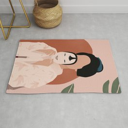 Geisha and Japanese Mask Rug