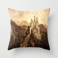 lichtenstein Throw Pillows featuring Lichtenstein Castle by Dan99