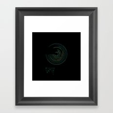 Spectrographic Portrait of the King of Limbs #2 Framed Art Print