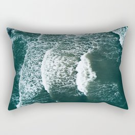 Wavy Waves on a stormy day Rectangular Pillow