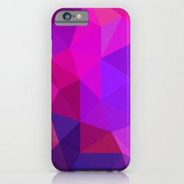 Magenta Low Poly iPhone Case