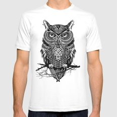 Warrior Owl 2 MEDIUM White Mens Fitted Tee