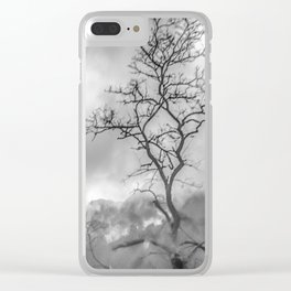 Mist in mountains Clear iPhone Case