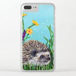 Spring Hedgehog Clear iPhone Case