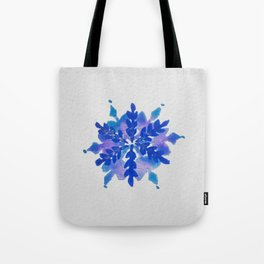 WATERCOLOR SNOWFLAKE 4 - blue and purple palette Tote Bag