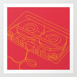 Retro Media Art Print