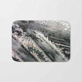 Winter Temporary Snow Abstractions no. 3 Bath Mat