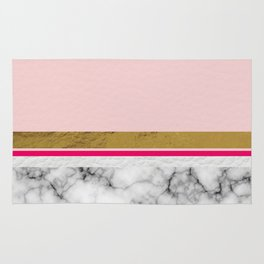 Blush Leather & Marble Rug