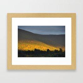 Berkshire Mountain view Framed Art Print