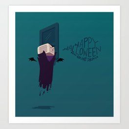 Count Dripula Art Print