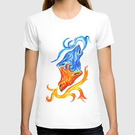 Fire and Water Wolves T-shirt