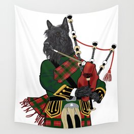 Scotty plays the bagpipes Wall Tapestry