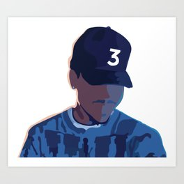 Coloring Book - Chance the Rapper Art Print