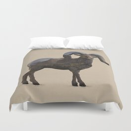The Rocky Mountain Bighorn Sheep Duvet Cover