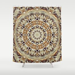 Flower Of Life Mandala (Close To Nature) Shower Curtain