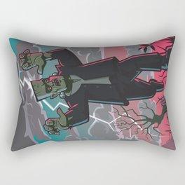 frankenstein creature in storm  Rectangular Pillow