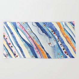 Spine Lines Beach Towel