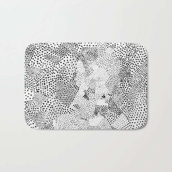 Dot Matrix BW | Abstract Geometric Bath Mat