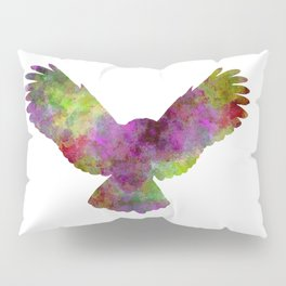 Owl 02 in watercolor Pillow Sham
