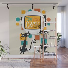 Dig Those Crazy Cats Wall Mural