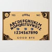 ouija Area & Throw Rugs featuring Ouija Board Best Board by ezmaya