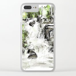 Abstract falls Clear iPhone Case