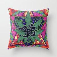 namaste Throw Pillows featuring namaste by Natasha Marie
