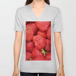 Ripe Red Strawberries Unisex V-Neck