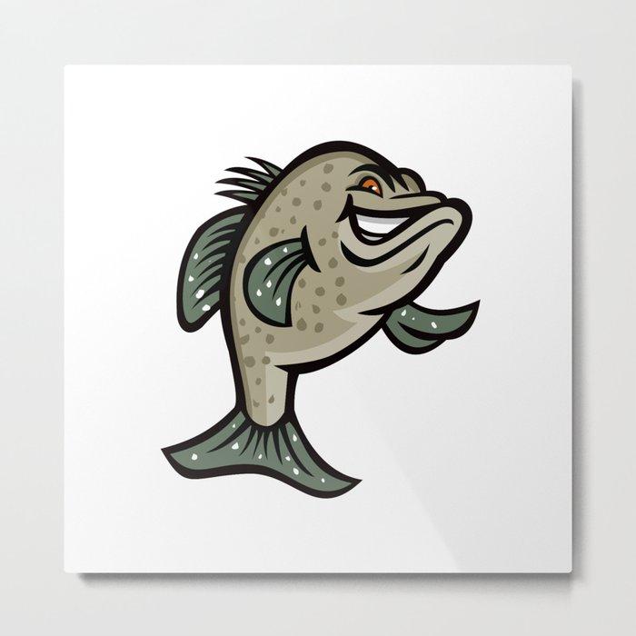 Crappie Fish Standing Mascot Metal Print