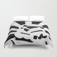 stormtrooper Duvet Covers featuring StormTrooper by Shelly Lukas Art
