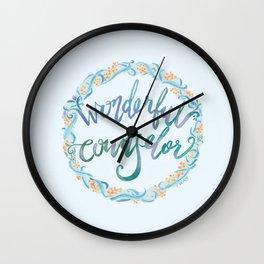 Wonderful Counselor - Isaiah 9:6 Wall Clock