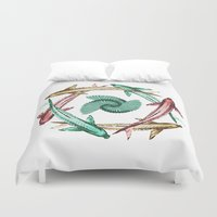 circle Duvet Covers featuring Circle by DebS Digs Photo Art
