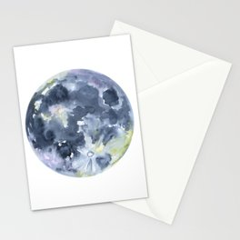 Full Moon Watercolor Stationery Cards