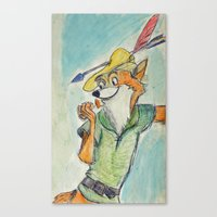 robin hood Canvas Prints featuring Robin Hood  by Renatta Maniski-Luke