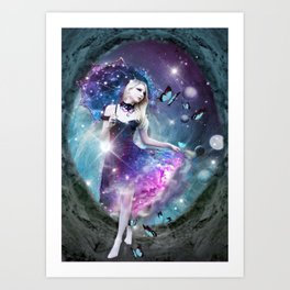 Ethereal keeper of worlds Art Print