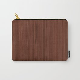 Walnut Wood Texture Carry-All Pouch