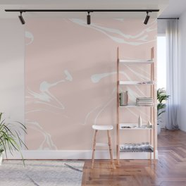 Pink With White Liquid Paint Wall Mural