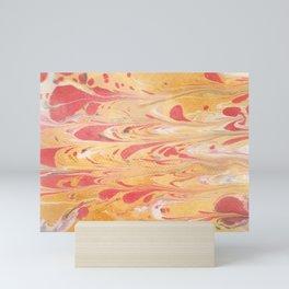 Yellow Marble Mini Art Print