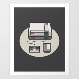 Retro Memories Art Print