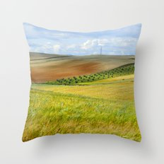Rural Beauty. Cereal fields Throw Pillow