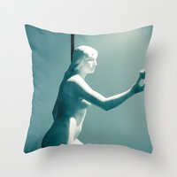 apple Throw Pillows featuring Apple by Sébastien BOUVIER
