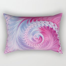 Crystal Spiral Abstract Rectangular Pillow