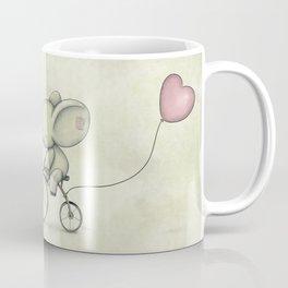 Cute Elephant riding his bike Coffee Mug
