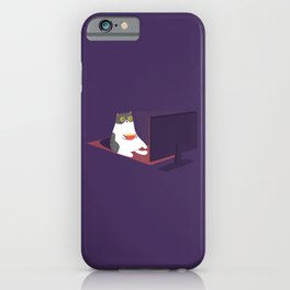 Catflix and Chill iPhone Case