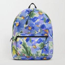 Blue Poppy Field Backpack