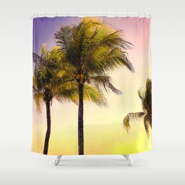 PURPLE AND GOLD SKIES 3 Shower Curtain