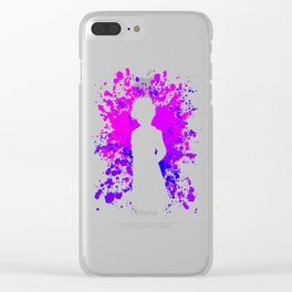 Anime Paint Splatter Inspired Shirt Clear iPhone Case