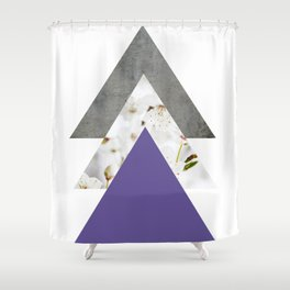 Ultra Violet Blossoms Arrows Shower Curtain