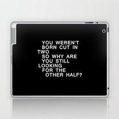 In Half / Original / Mono Laptop & iPad Skin