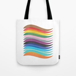Coloured twirled lines Tote Bag